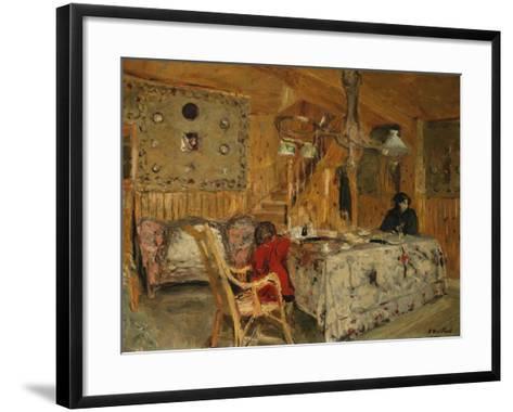 Denise Natanson and Marcelle Aron at the Summer House, Villerville, Normandy, C.1910-Edouard Vuillard-Framed Art Print