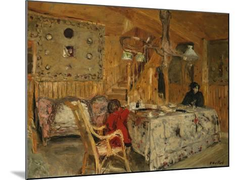Denise Natanson and Marcelle Aron at the Summer House, Villerville, Normandy, C.1910-Edouard Vuillard-Mounted Giclee Print