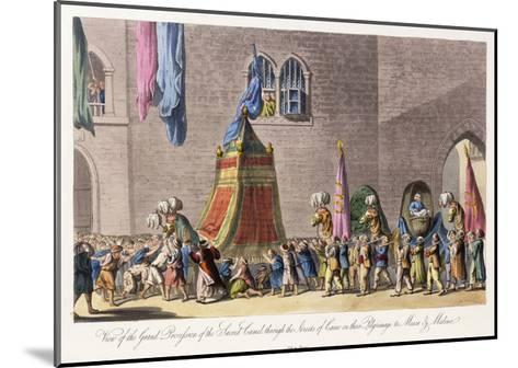 View of the Grand Procession of the Sacred Camel Through the Streets of Cairo-Cooper Willyams-Mounted Giclee Print