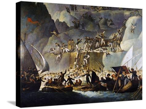 Murat's Troops Launching Attack on Capri from the Punta Carena Side, October 5, 1808-Edward Fischetti-Stretched Canvas Print