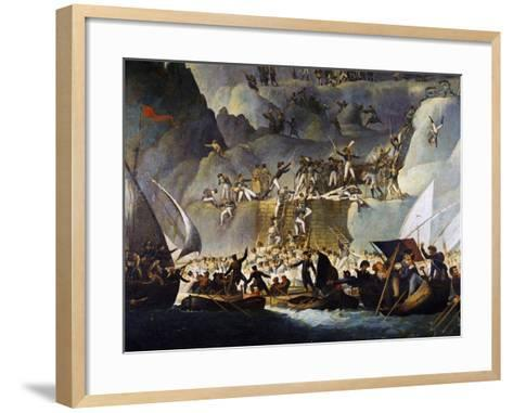 Murat's Troops Launching Attack on Capri from the Punta Carena Side, October 5, 1808-Edward Fischetti-Framed Art Print