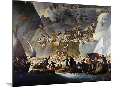 Murat's Troops Launching Attack on Capri from the Punta Carena Side, October 5, 1808-Edward Fischetti-Mounted Giclee Print