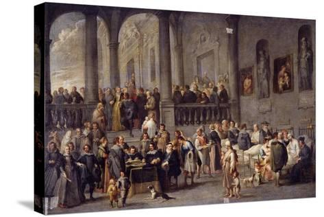 To Visit the Sick, Cycle from the Seven Works of Mercy, after 1625-Cornelis De Wael-Stretched Canvas Print