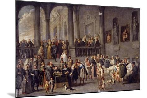 To Visit the Sick, Cycle from the Seven Works of Mercy, after 1625-Cornelis De Wael-Mounted Giclee Print
