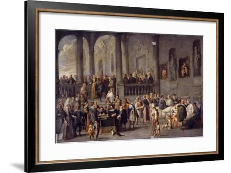 To Visit the Sick, Cycle from the Seven Works of Mercy, after 1625-Cornelis De Wael-Framed Art Print