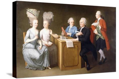 A Group Portrait of Monsieur Le Roy-Dominique Doncre-Stretched Canvas Print