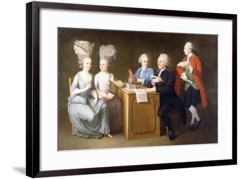 A Group Portrait of Monsieur Le Roy-Dominique Doncre-Framed Art Print