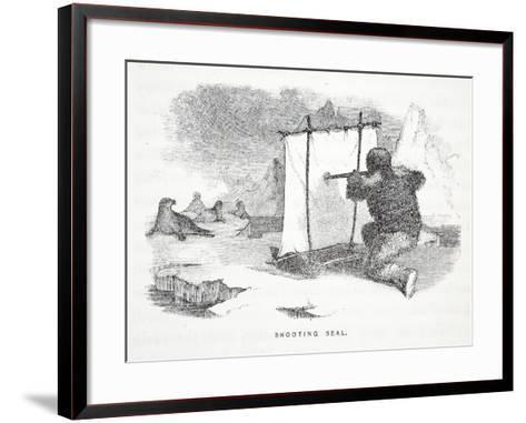 Shooting Seal-Elisha Kane-Framed Art Print
