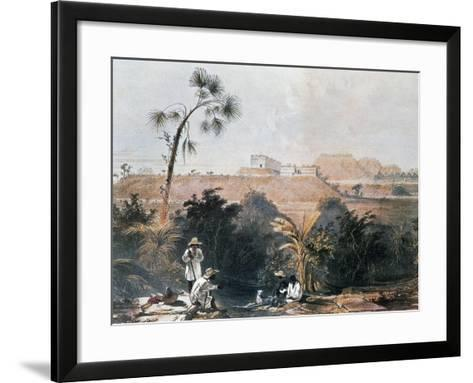 View of Mayan Ceremonial Center of Uxmal, Yucatan, Mexico-Frederick Catherwood-Framed Art Print