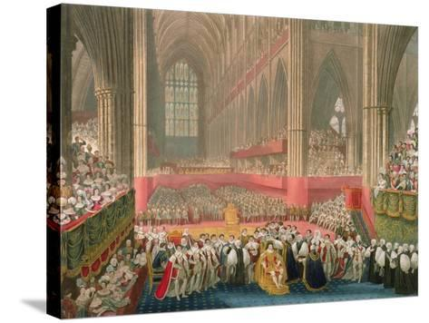 The Coronation of George IV in Westminster Abbey-Frederick Christian Lewis-Stretched Canvas Print