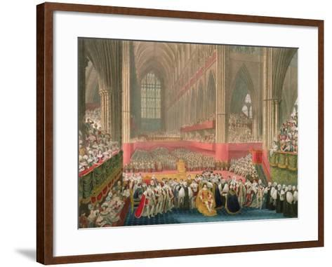 The Coronation of George IV in Westminster Abbey-Frederick Christian Lewis-Framed Art Print
