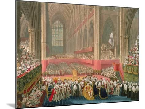 The Coronation of George IV in Westminster Abbey-Frederick Christian Lewis-Mounted Giclee Print