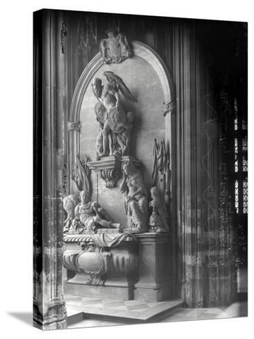 Monument to George Villiers, 1st Duke of Buckingham, Westminster Abbey, London-Frederick Henry Evans-Stretched Canvas Print