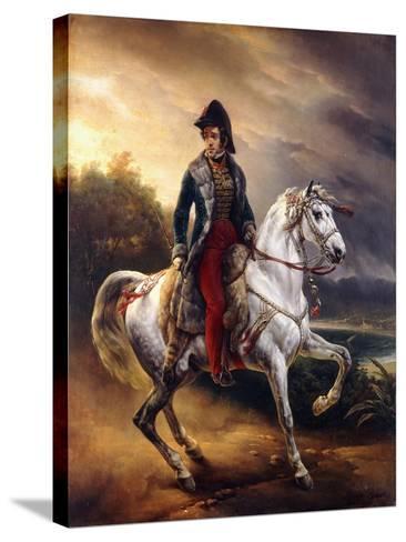Portrait of Justo Machado Y Salcedo, Spanish Consul in Paris on Horseback, 1821-Horace Vernet-Stretched Canvas Print