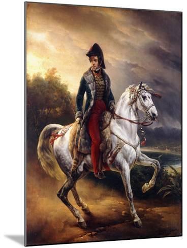 Portrait of Justo Machado Y Salcedo, Spanish Consul in Paris on Horseback, 1821-Horace Vernet-Mounted Giclee Print