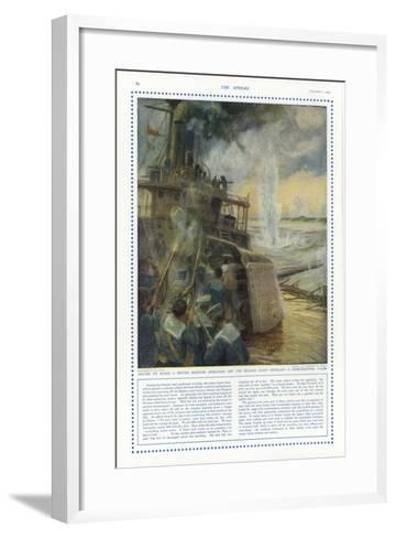 Sailors on Board a British Monitor Off the Belgian Coast-Charles William Wyllie-Framed Art Print