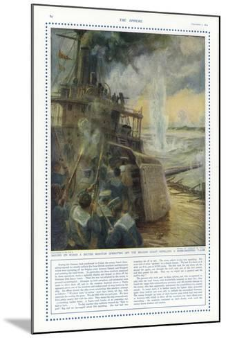 Sailors on Board a British Monitor Off the Belgian Coast-Charles William Wyllie-Mounted Giclee Print