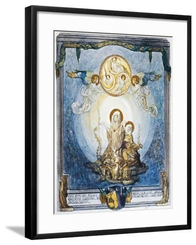 Faith Is Substance of Things We Hope for and Is Evidence of Things Not Seen, Paradiso-Dante Alighieri-Framed Art Print