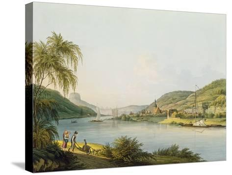 View of the Southern Part of Schandau on the Elbe in Saxony on the Border of Bohemia-Christian Gottlob Hammer-Stretched Canvas Print