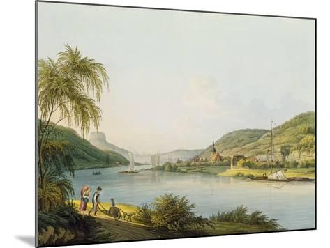 View of the Southern Part of Schandau on the Elbe in Saxony on the Border of Bohemia-Christian Gottlob Hammer-Mounted Giclee Print
