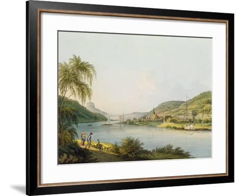 View of the Southern Part of Schandau on the Elbe in Saxony on the Border of Bohemia-Christian Gottlob Hammer-Framed Art Print