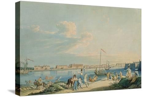 View of the Marble Palace and the North Side of the Peter and Paul Fortress, St. Petersburg-Christian Gottlob Hammer-Stretched Canvas Print