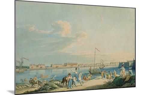 View of the Marble Palace and the North Side of the Peter and Paul Fortress, St. Petersburg-Christian Gottlob Hammer-Mounted Giclee Print