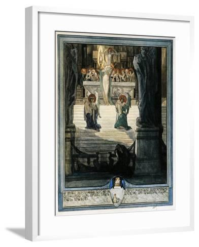 And Meet it Is Thou Know That All are Blest with Joy Deeoer as their Eyes Discern, Paradiso-Dante Alighieri-Framed Art Print