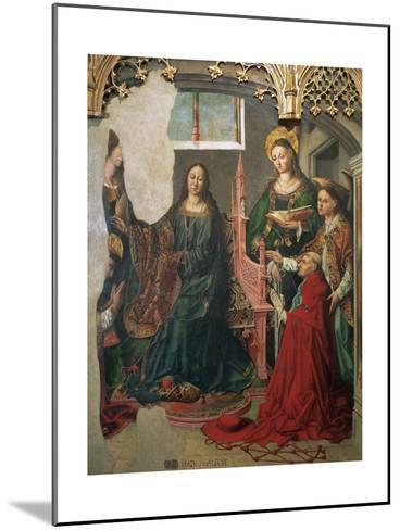 Saint Ildephonsus Receiving the Chasuble from the Virgin-Fernando Gallego-Mounted Giclee Print