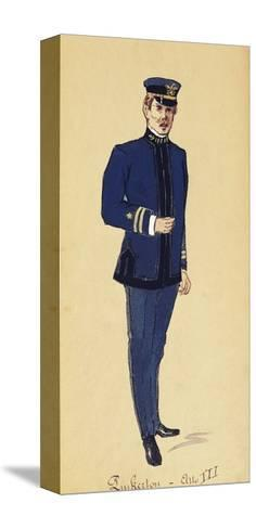 Costume Sketch for Role of Pinkerton in Opera Madame Butterfly, 1904-Giacomo Puccini-Stretched Canvas Print