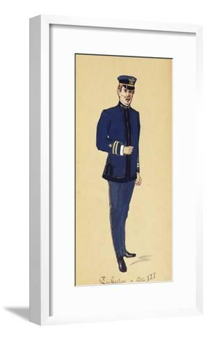 Costume Sketch for Role of Pinkerton in Opera Madame Butterfly, 1904-Giacomo Puccini-Framed Art Print