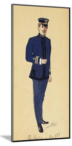 Costume Sketch for Role of Pinkerton in Opera Madame Butterfly, 1904-Giacomo Puccini-Mounted Giclee Print