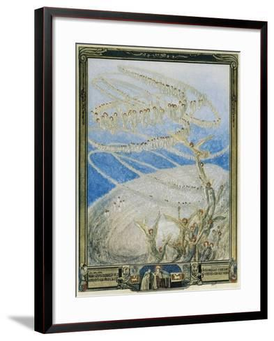 So Mirrored in That Light from Higher Place, I Saw on Countless Seats and Round and Round-Dante Alighieri-Framed Art Print