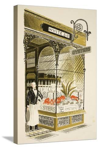 Oyster Bar-Eric Ravilious-Stretched Canvas Print