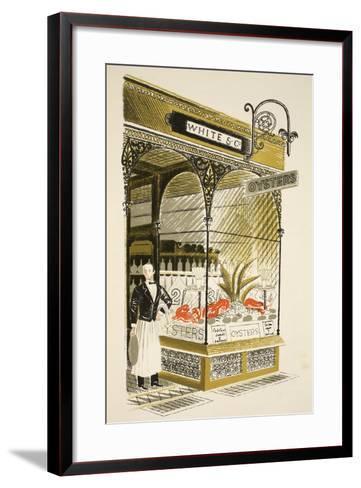Oyster Bar-Eric Ravilious-Framed Art Print