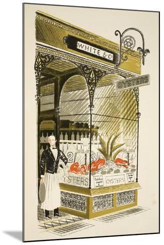Oyster Bar-Eric Ravilious-Mounted Giclee Print