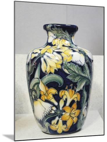 Vase with Floral Decorations, Symbolist Design Inspired by English Models-Galileo Chini-Mounted Giclee Print