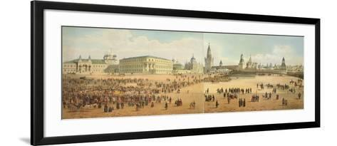 The Nikolaievsky Palace and St. Basil's Cathedral Viewed from the Kremlin-Dmitri Indieitzeff-Framed Art Print