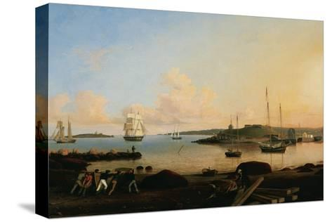 The Fort and Ten Pound Island. Gloucester, Massachussetts, 1847-Fitz Henry Lane-Stretched Canvas Print