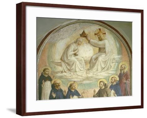 The Coronation of the Virgin-Fra Angelico-Framed Art Print