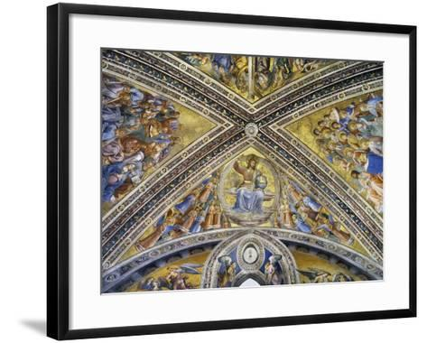 Christ Judge Amongst Angels, Apostles and Prophets, 1447-1504-Fra Angelico-Framed Art Print