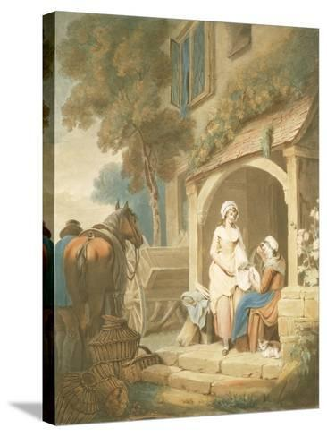 Returned from Market, Engraved by W. Annis, Pub. by Morgan and Pearce, 1803-Francis Wheatley-Stretched Canvas Print