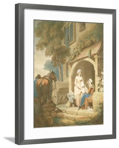 Returned from Market, Engraved by W. Annis, Pub. by Morgan and Pearce, 1803-Francis Wheatley-Framed Art Print
