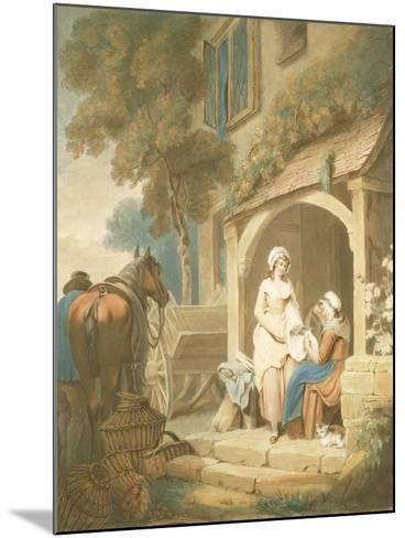 Returned from Market, Engraved by W. Annis, Pub. by Morgan and Pearce, 1803-Francis Wheatley-Mounted Giclee Print