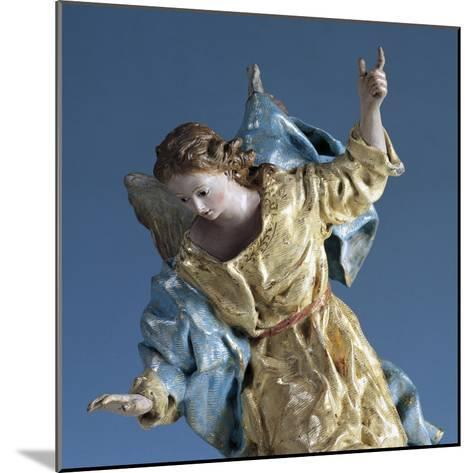 Angel Visiting Saint Joseph in Dream, Painted Terracotta Nativity Figurine-Francisco Salzillo Y Alcazar-Mounted Giclee Print