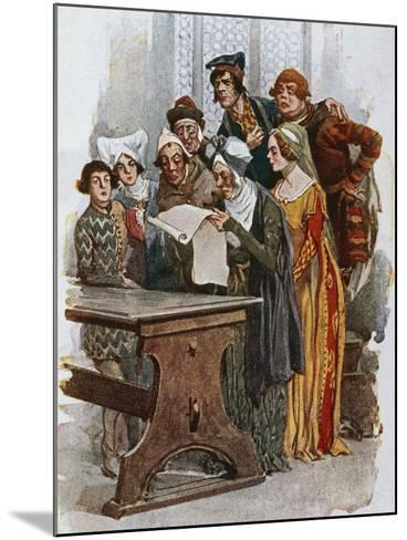 Print Depicting a Scene from Gianni Schicchi, 1922-Giacomo Puccini-Mounted Giclee Print