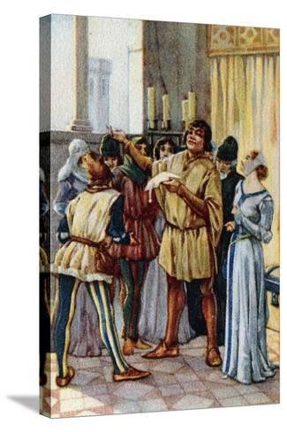 Vintage Picture Card Depicting Scene from the Opera Gianni Schicchi, 1918-Giacomo Puccini-Stretched Canvas Print