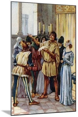 Vintage Picture Card Depicting Scene from the Opera Gianni Schicchi, 1918-Giacomo Puccini-Mounted Giclee Print