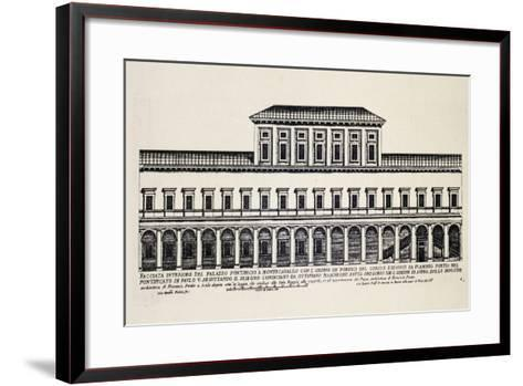 Front Elevation of Inner Facade of Papal Palace in Monte Cavallo, Later Quirinale Palace-Giacomo Rossi-Framed Art Print