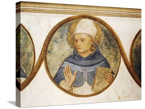 Dominican Order Genealogical Tree with Portrait of St. Albert, Detail from Crucifixion with Saints-Fra Angelico-Stretched Canvas Print